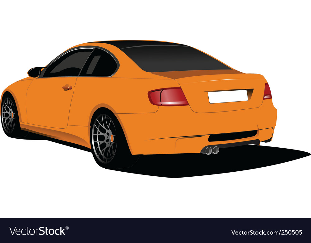 Orange car vector | Price: 1 Credit (USD $1)