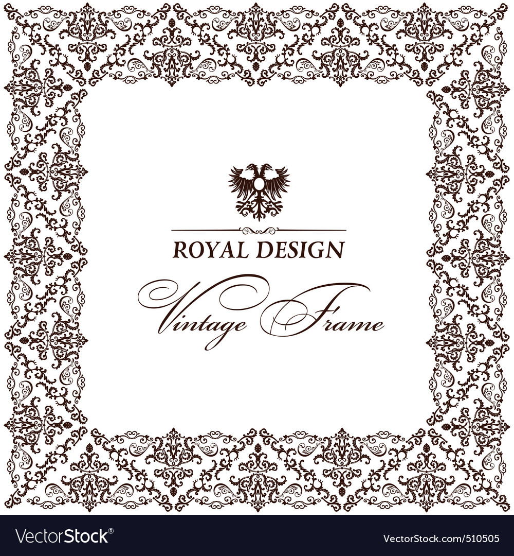 vintage old frame ornament retro vector | Price: 1 Credit (USD $1)