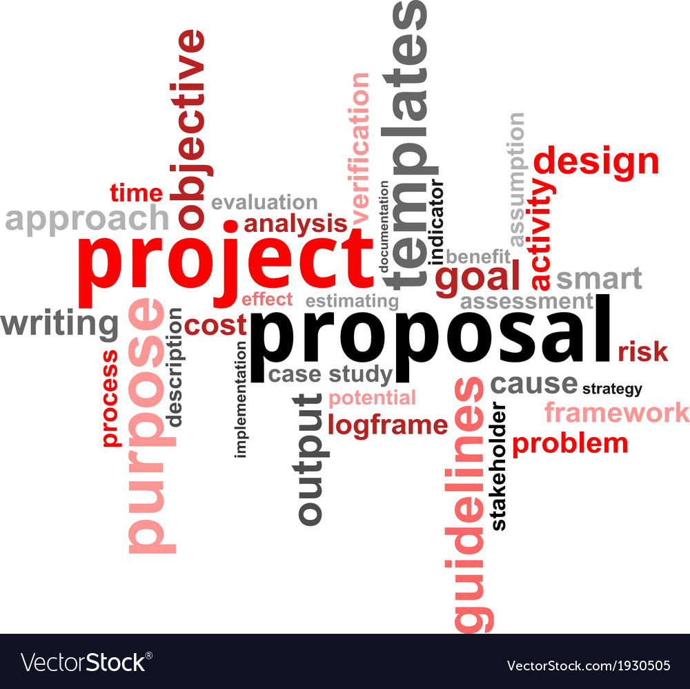 Word cloud project proposal vector | Price: 1 Credit (USD $1)