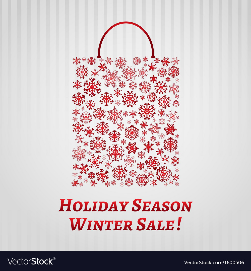 Christmas background with a shopping bag vector | Price: 1 Credit (USD $1)