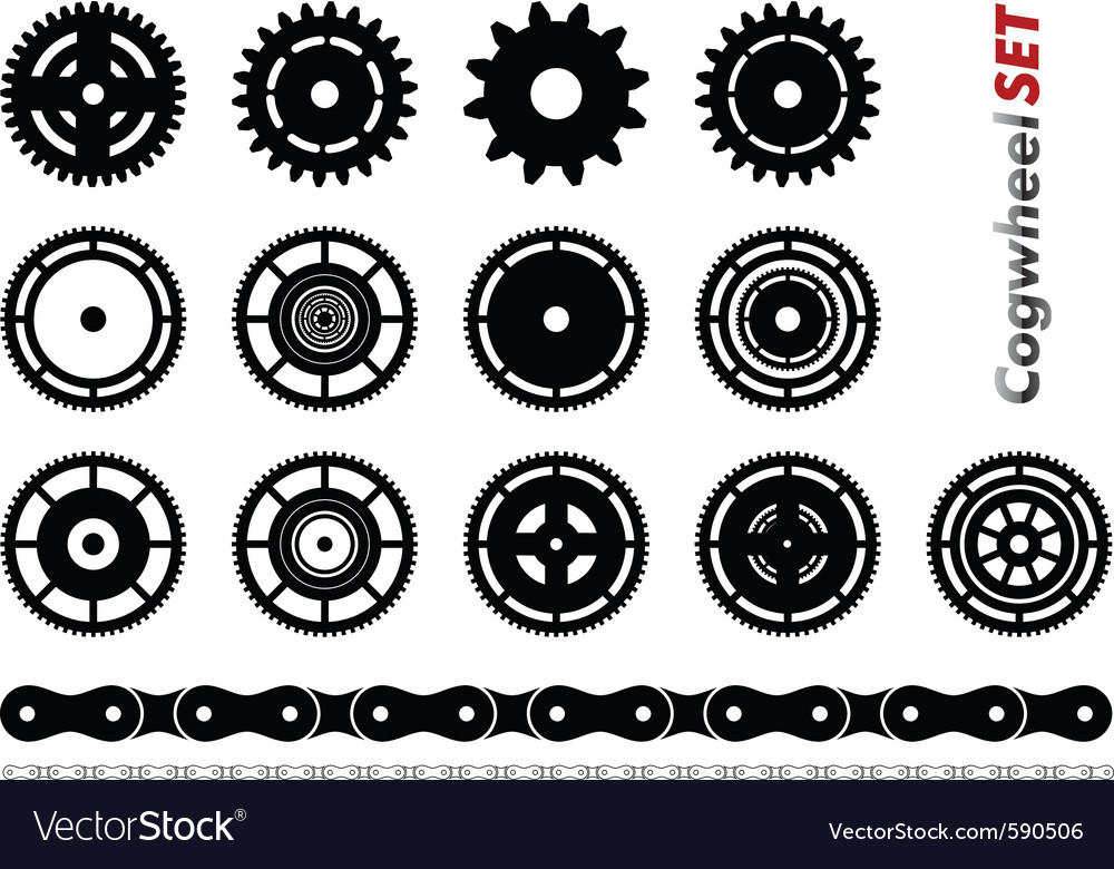 Cogwheel set vector | Price: 1 Credit (USD $1)