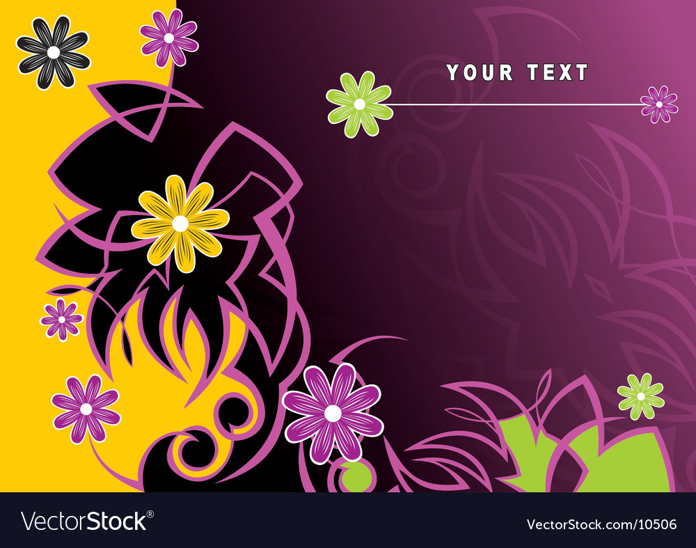 Flowers background vector   Price: 1 Credit (USD $1)