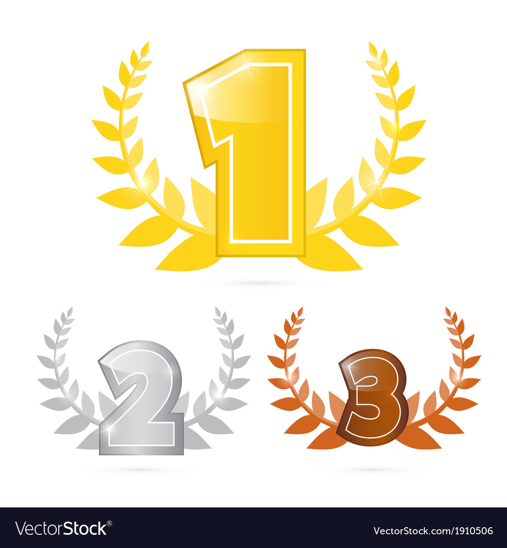 Gold silver bronze - first second and third place vector | Price: 1 Credit (USD $1)