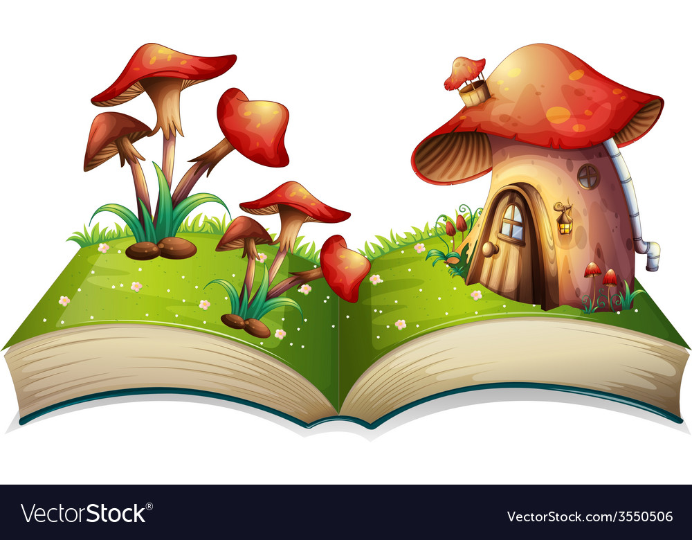 Mushroom book vector | Price: 3 Credit (USD $3)