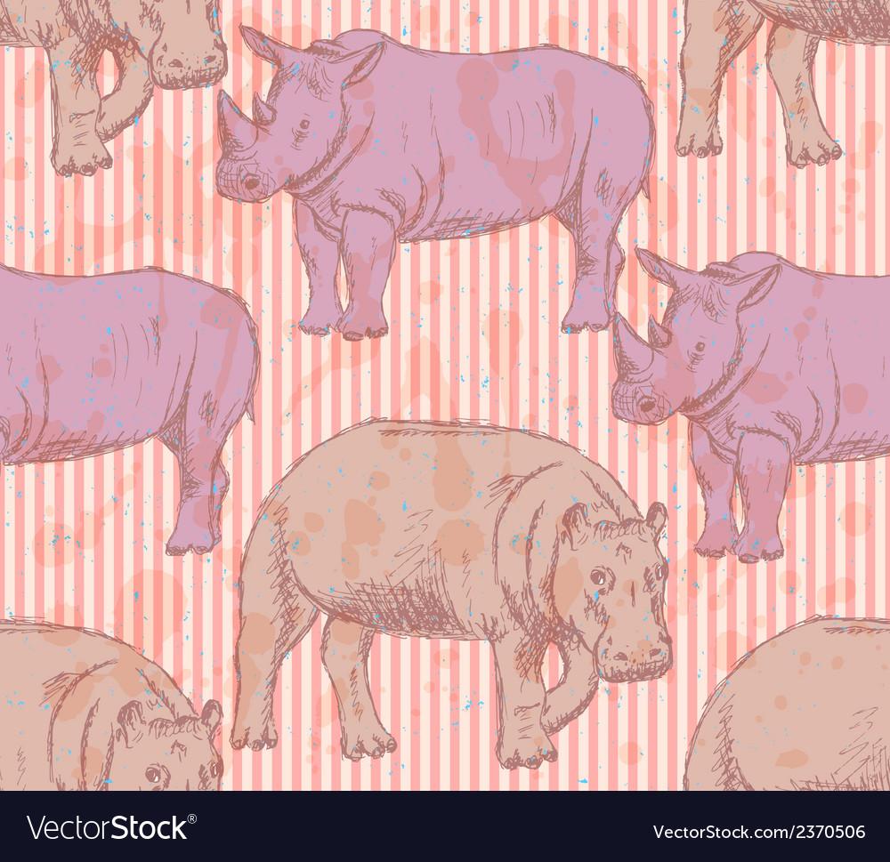 Rhino hippo vector | Price: 1 Credit (USD $1)