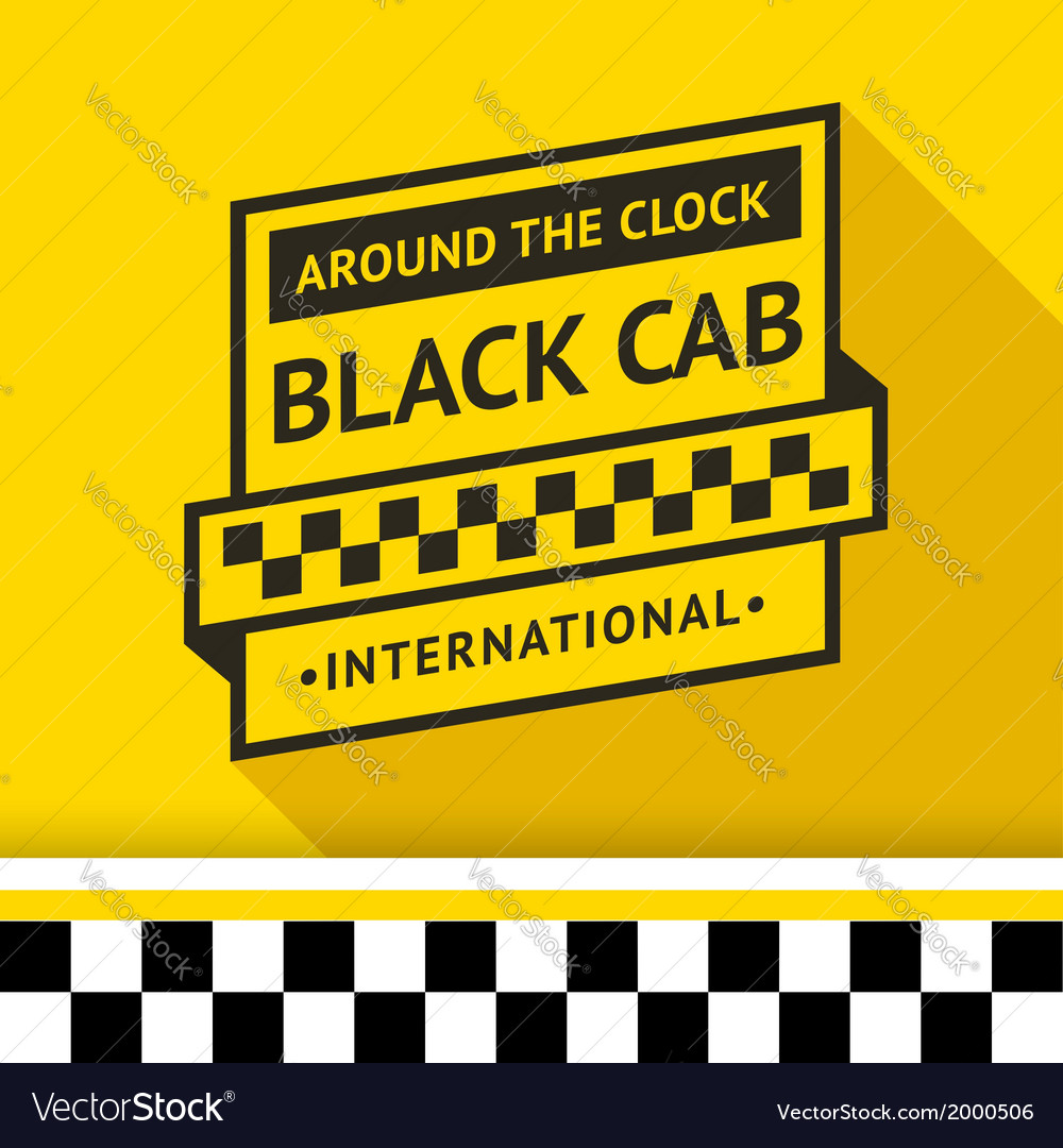 Taxi badge with shadow - 03 vector | Price: 1 Credit (USD $1)