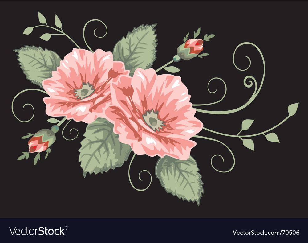 Victorian rose pattern vector | Price: 1 Credit (USD $1)