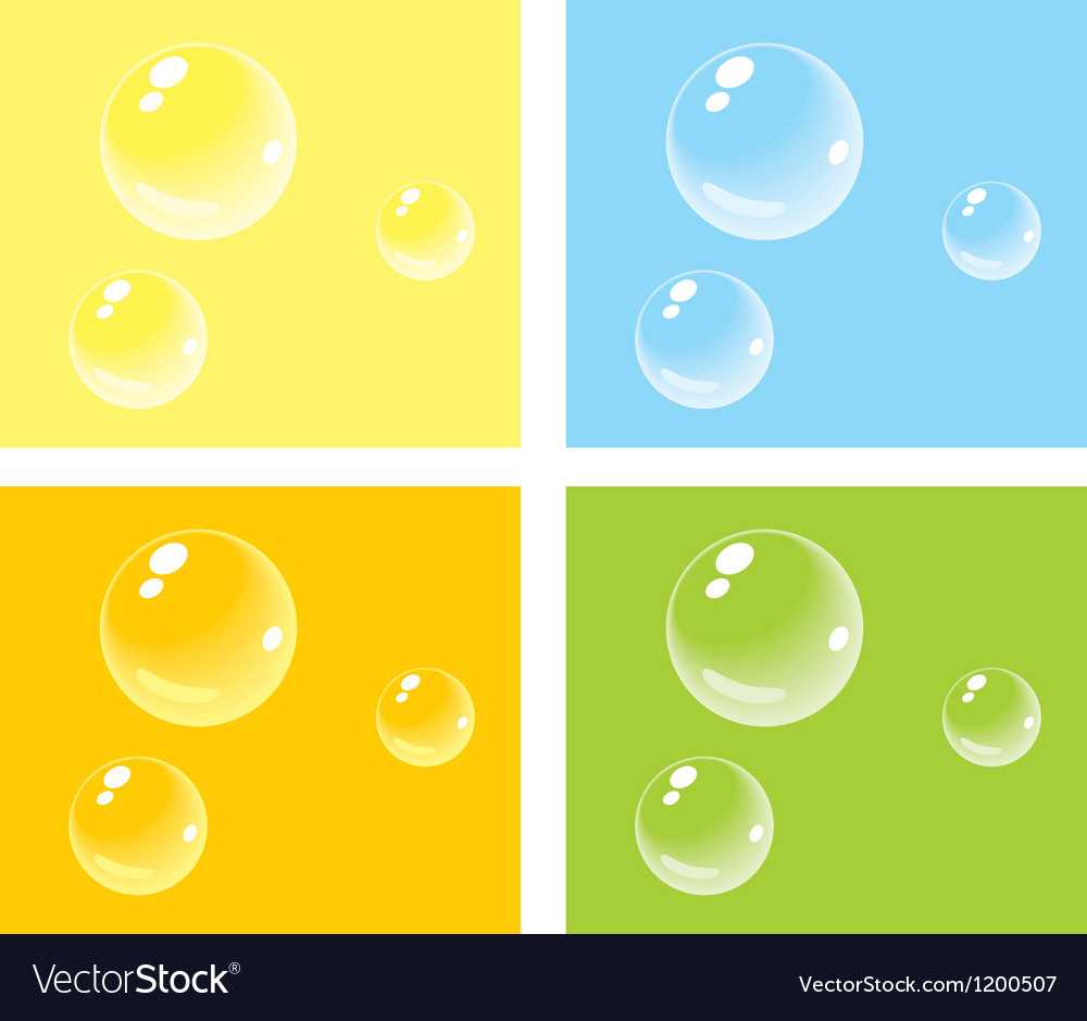 Bubbles on colored backgrounds vector | Price: 1 Credit (USD $1)