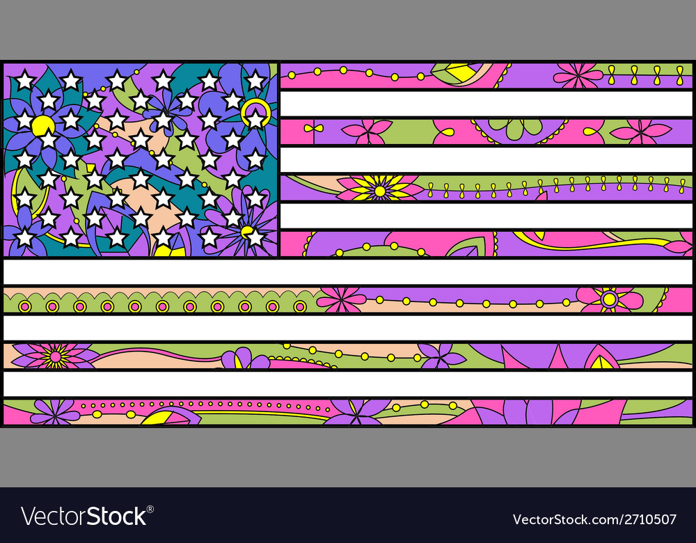 Colorful usa flag vector | Price: 1 Credit (USD $1)