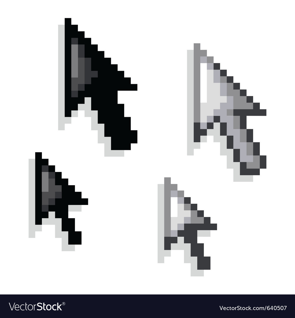 Cursor black and white variations vector | Price: 1 Credit (USD $1)