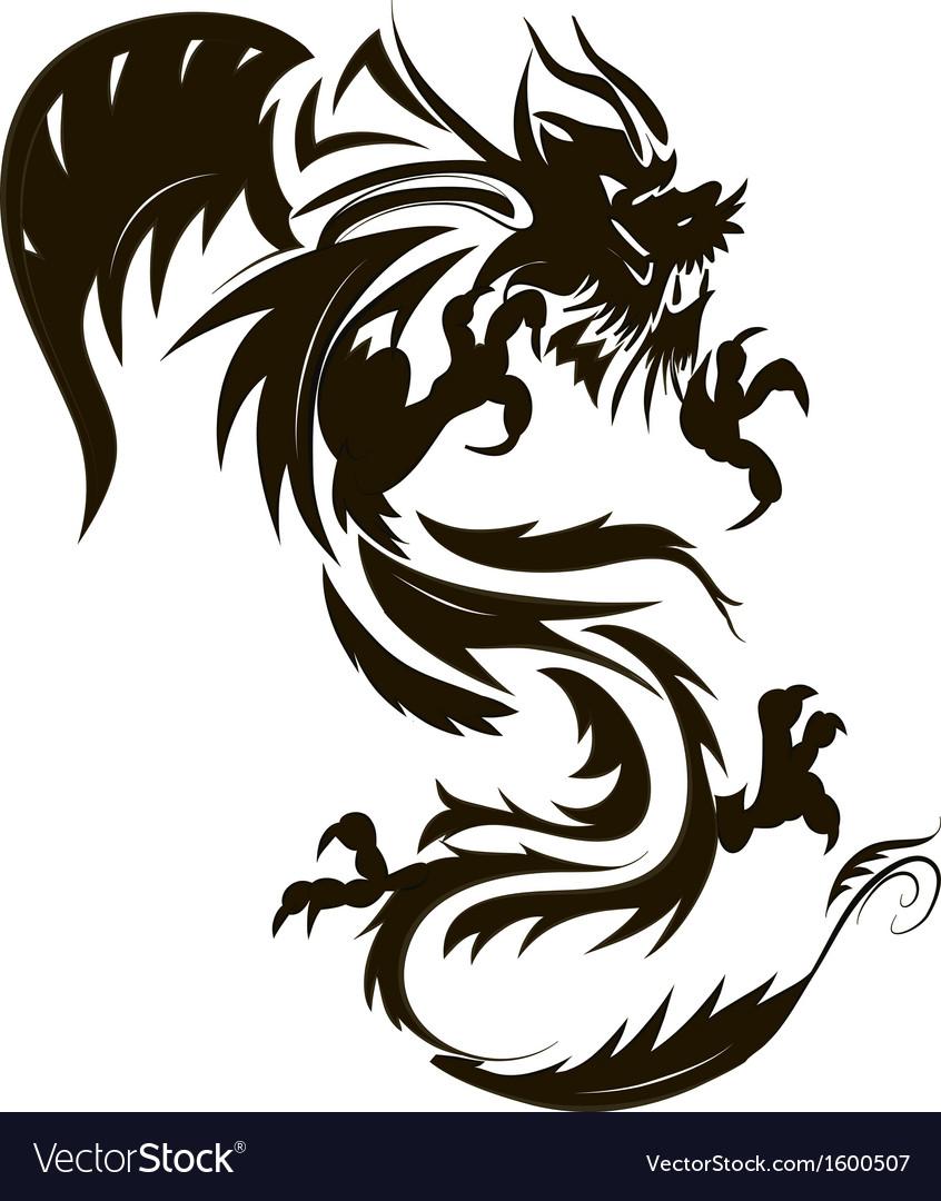 Dragon tattoo vector   Price: 1 Credit (USD $1)