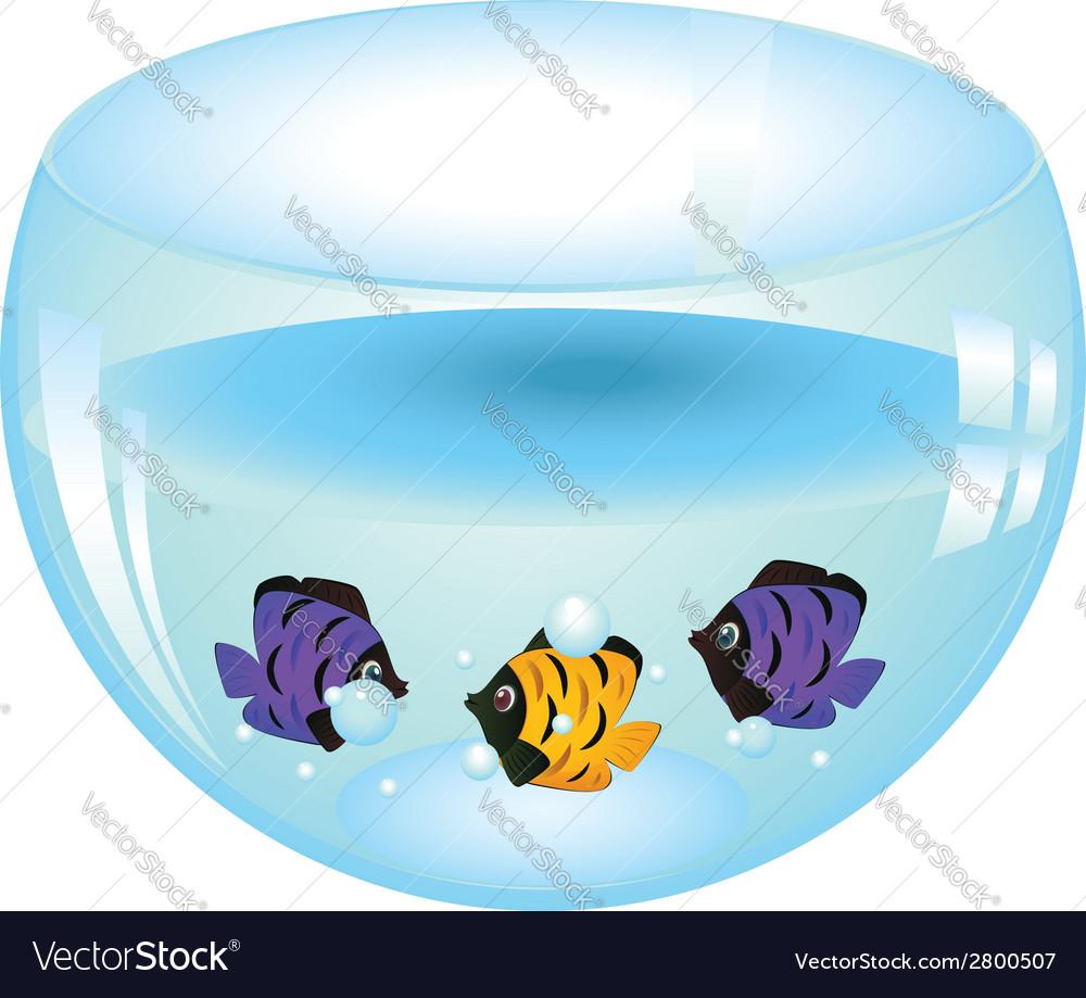 Fishes in aquarium2 vector | Price: 1 Credit (USD $1)