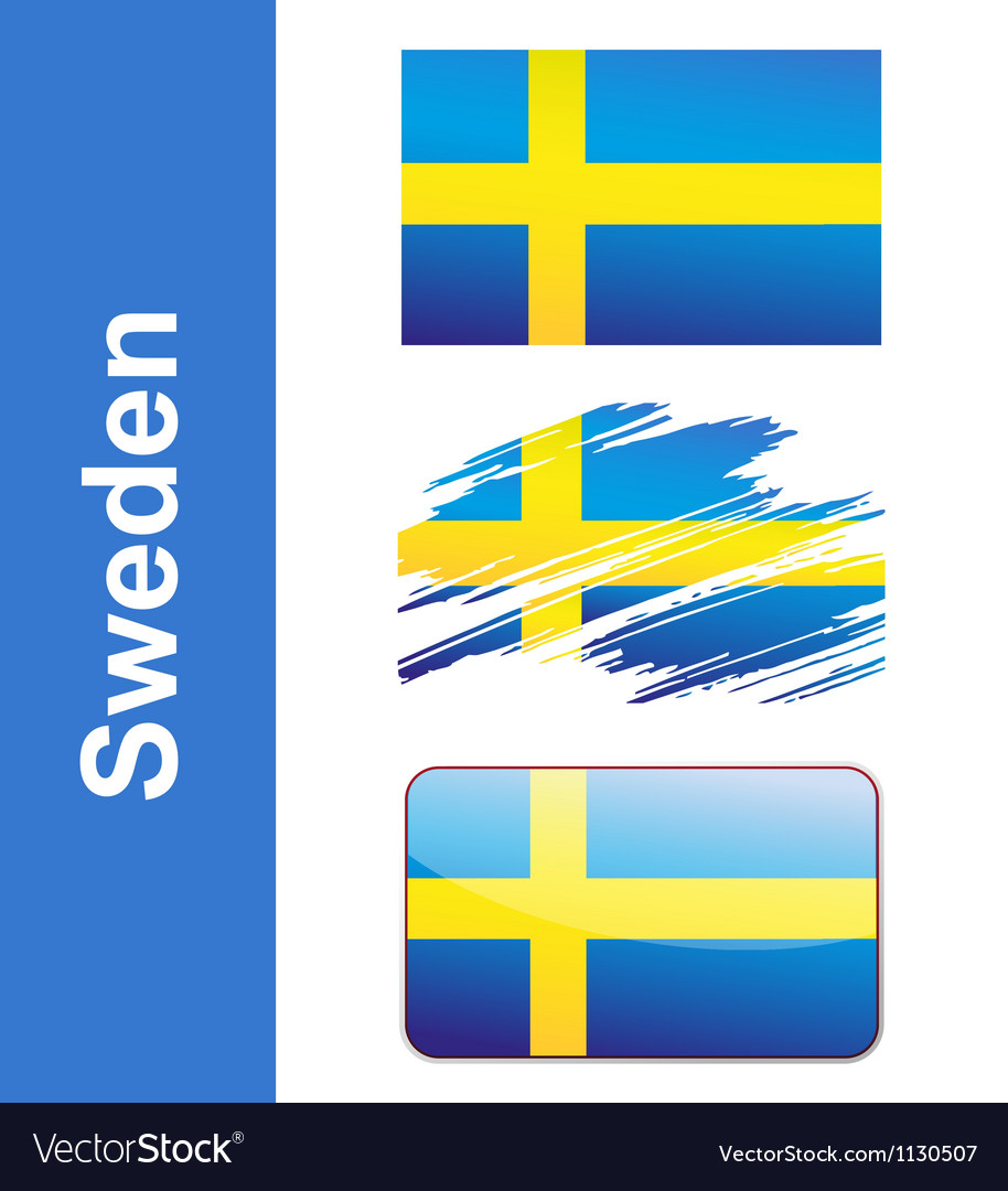 Flag sweden vector | Price: 1 Credit (USD $1)