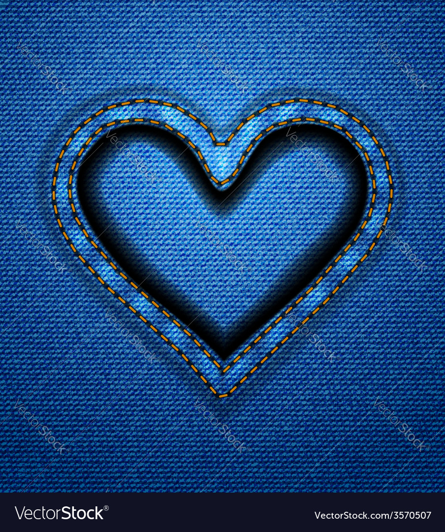 Jeans heart frame vector | Price: 1 Credit (USD $1)