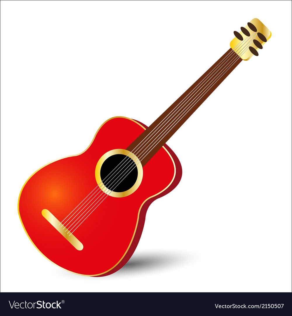 Red guitar vector | Price: 1 Credit (USD $1)