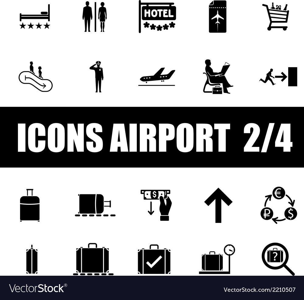Set of icons airport vector | Price: 1 Credit (USD $1)