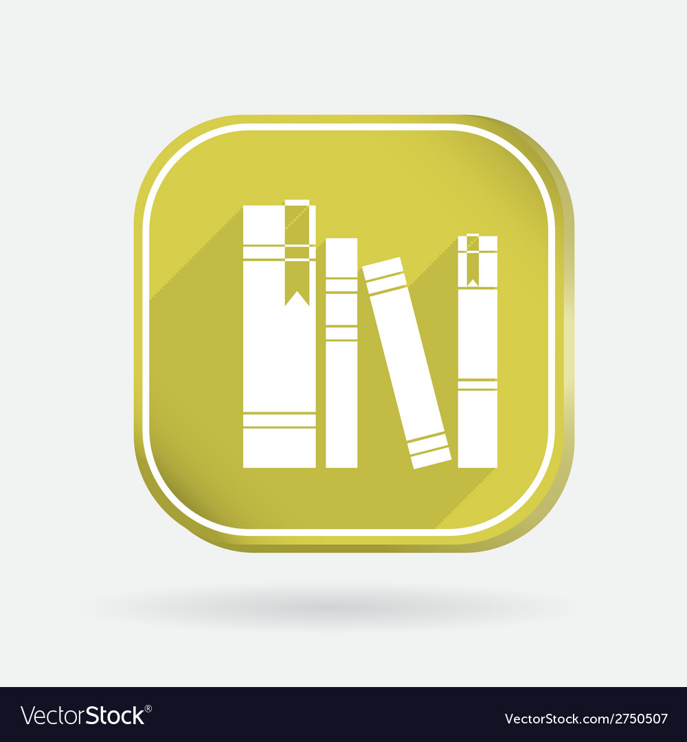 Spines of books color square icon vector | Price: 1 Credit (USD $1)