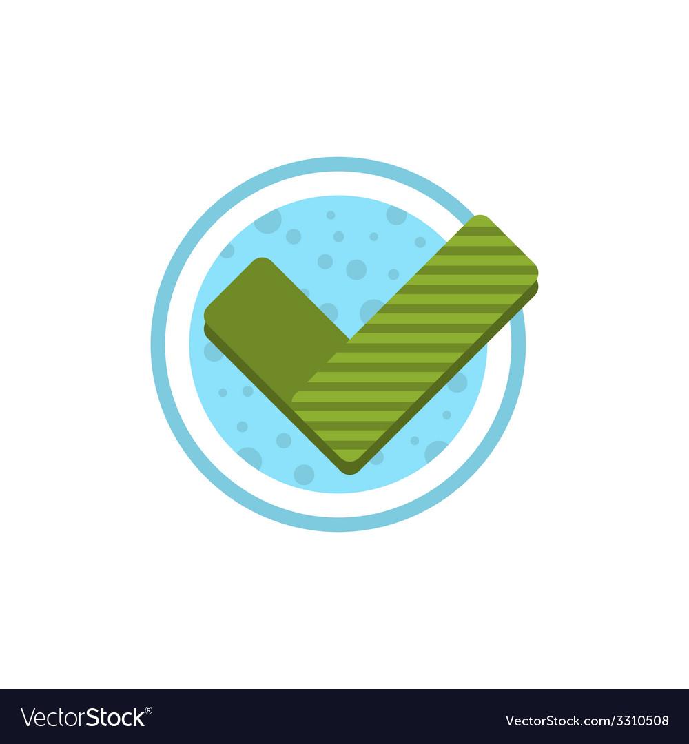 Check mark flat icon vector | Price: 1 Credit (USD $1)