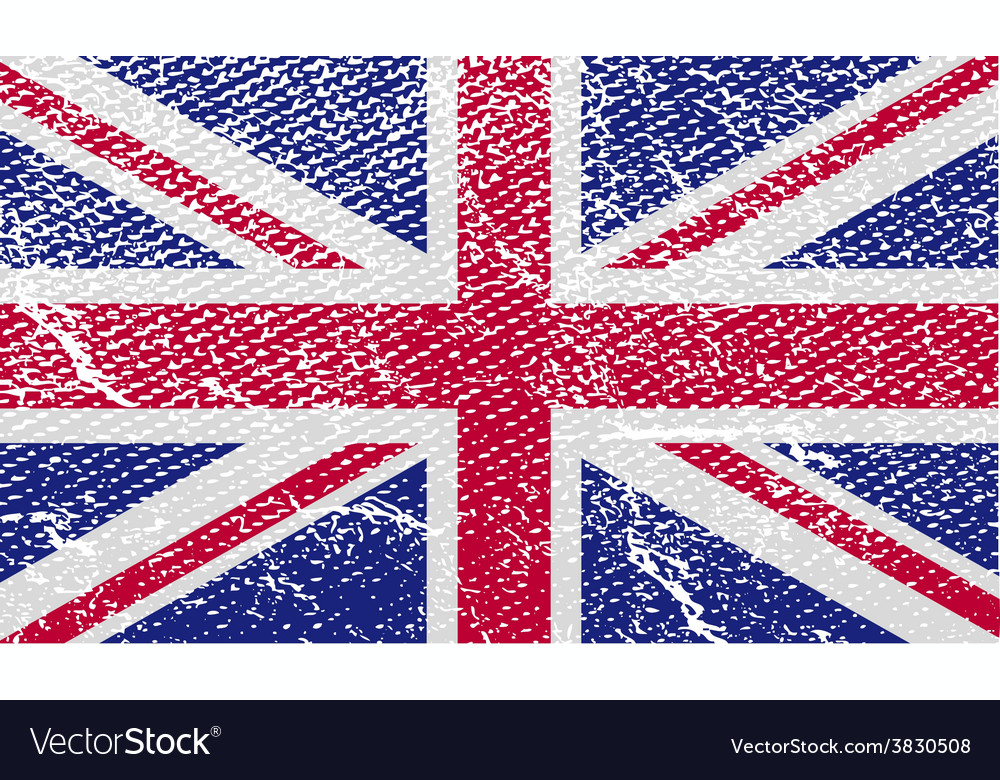 Flag of united kingdom with old texture vector | Price: 1 Credit (USD $1)