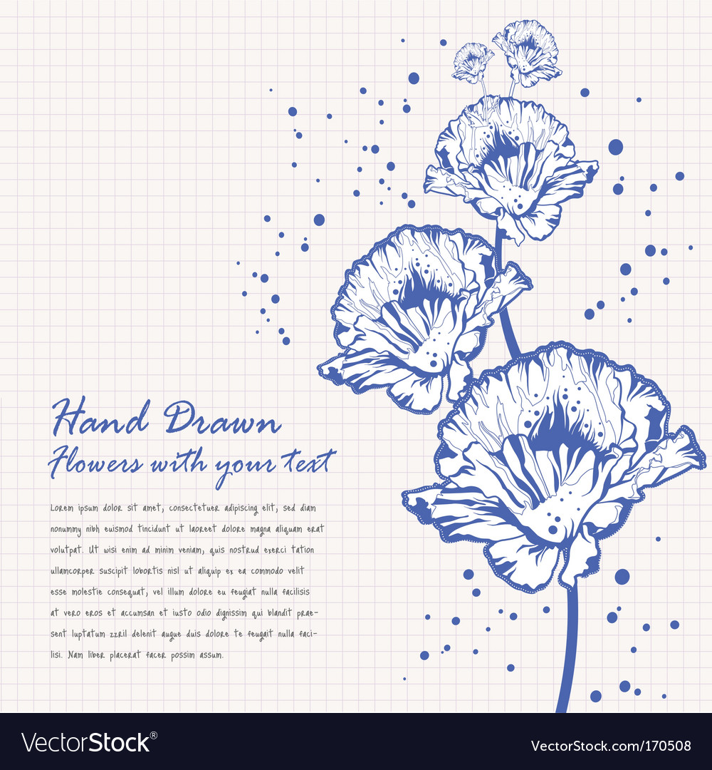 Hand drawn flowers doodle vector | Price: 1 Credit (USD $1)