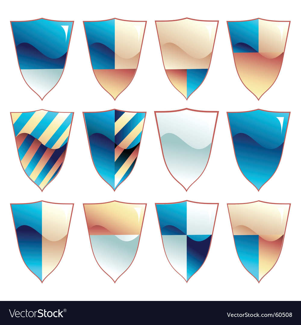 Medieval shield set vector | Price: 1 Credit (USD $1)