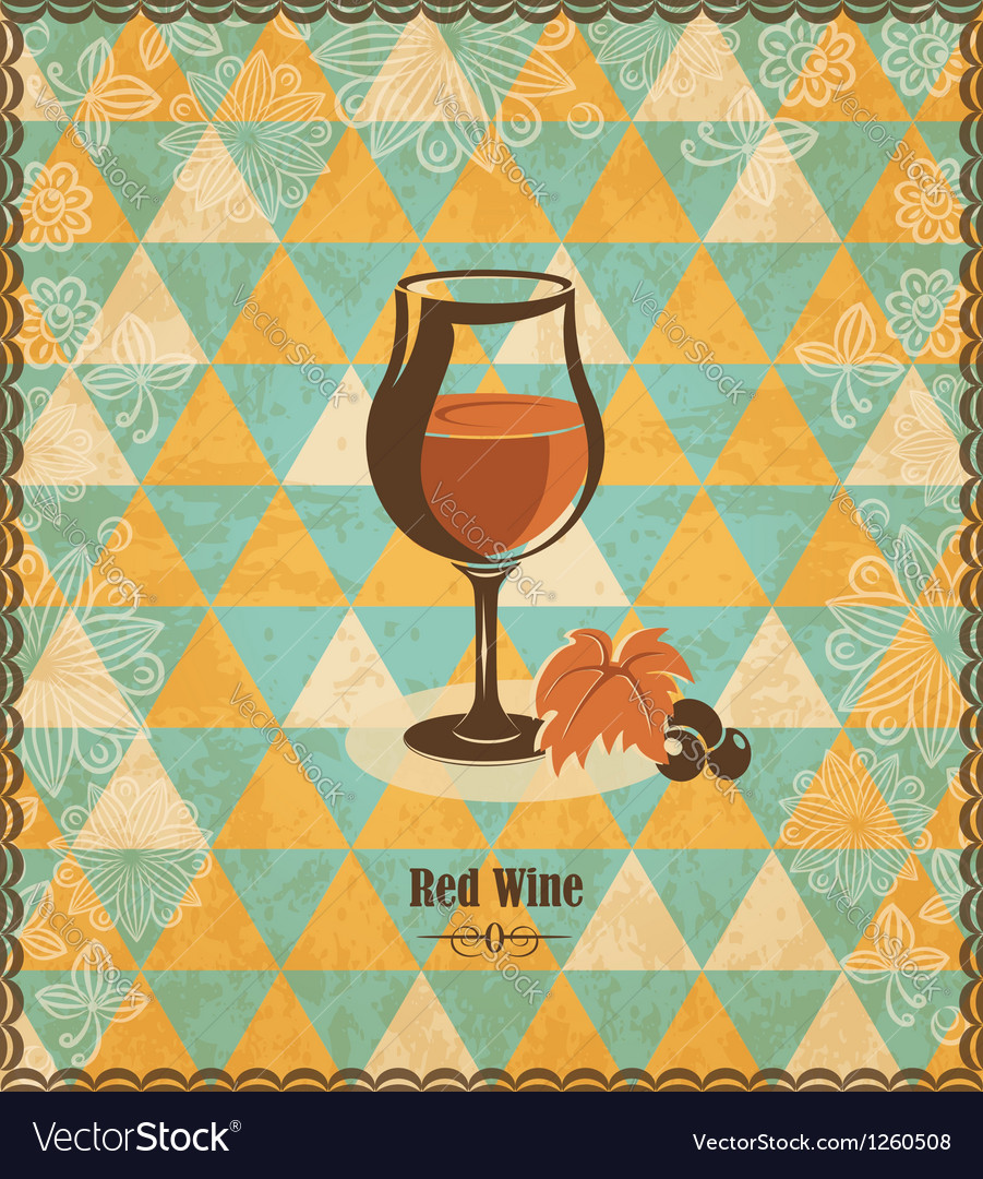 Red wine mosaic pattern vector | Price: 1 Credit (USD $1)