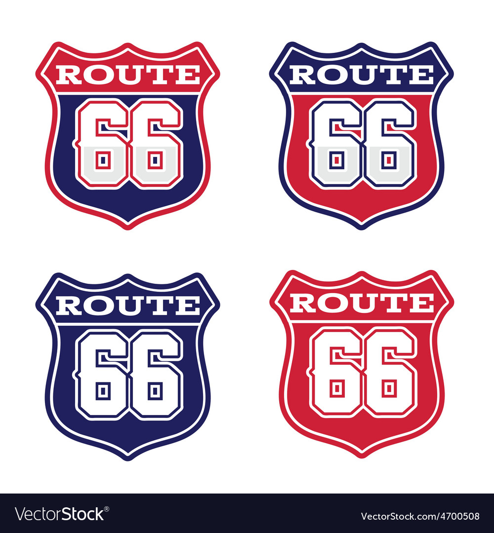 Route 66 highway sign vector | Price: 1 Credit (USD $1)