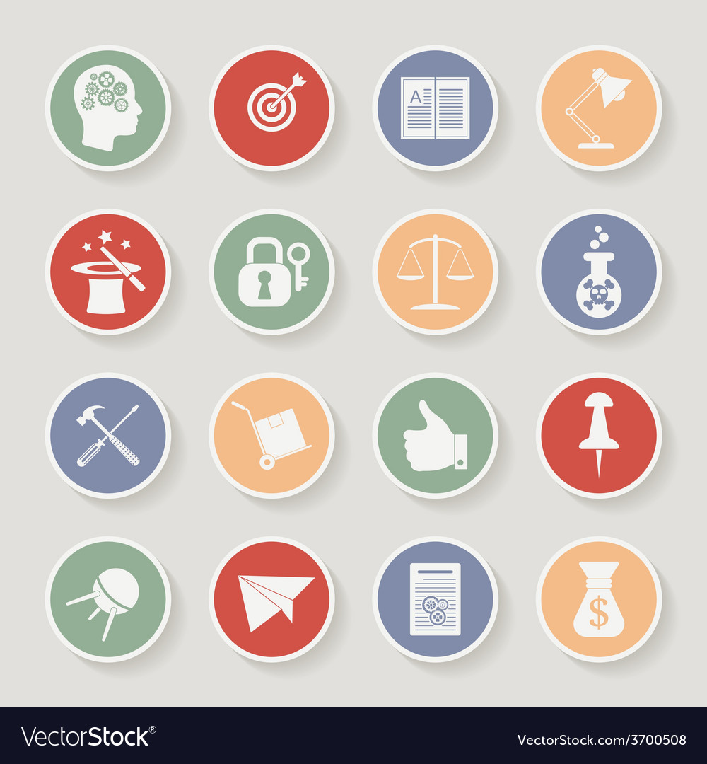 Universal round icons for web and mobile vector | Price: 1 Credit (USD $1)