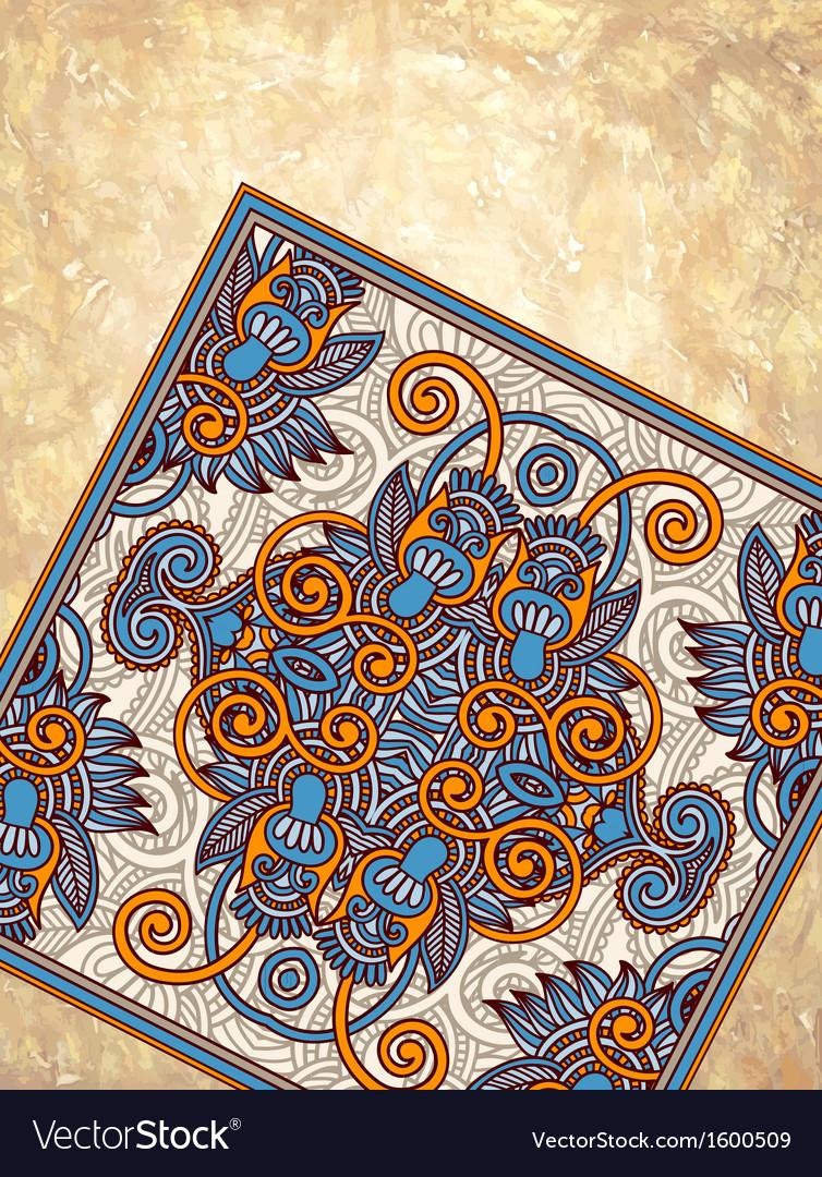 Carpet ornamental design on grunge background vector   Price: 1 Credit (USD $1)