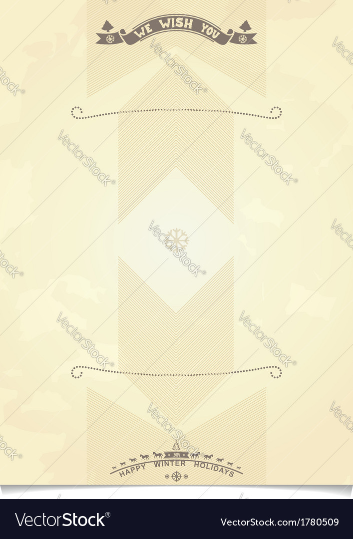 Christmas paper template for holiday greetings vector | Price: 1 Credit (USD $1)