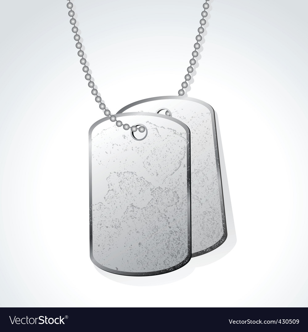 Dog tag vector | Price: 1 Credit (USD $1)