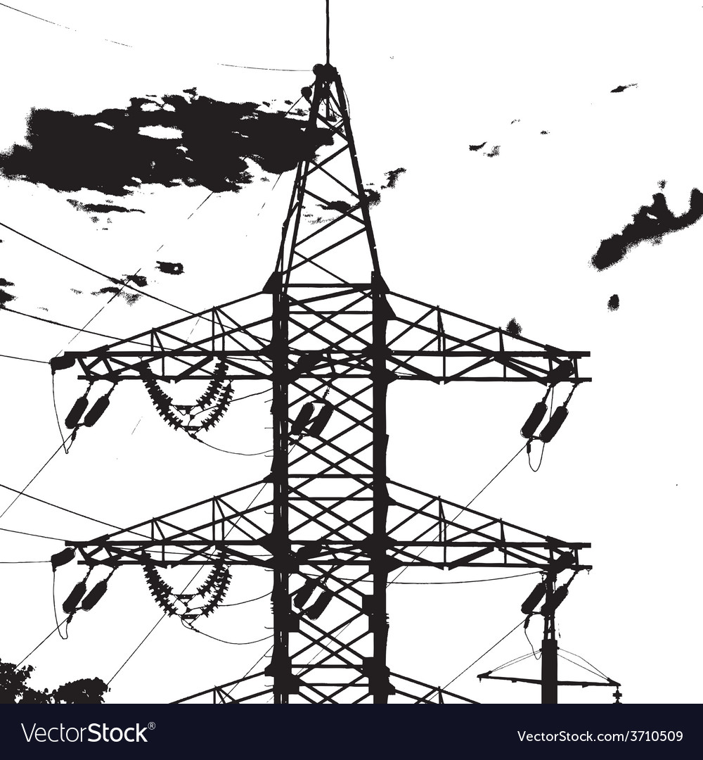 Electric tower closeup vector | Price: 1 Credit (USD $1)