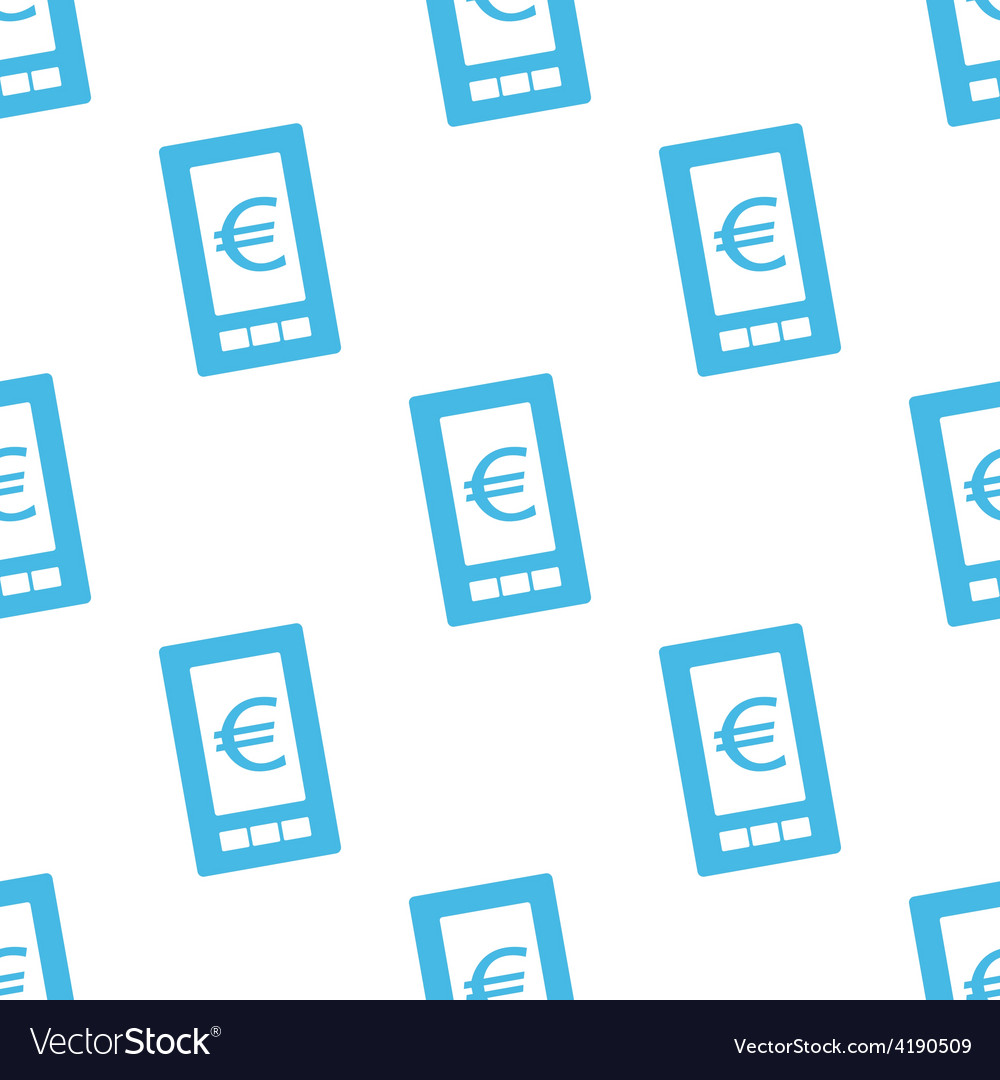 Euro phone seamless pattern vector | Price: 1 Credit (USD $1)