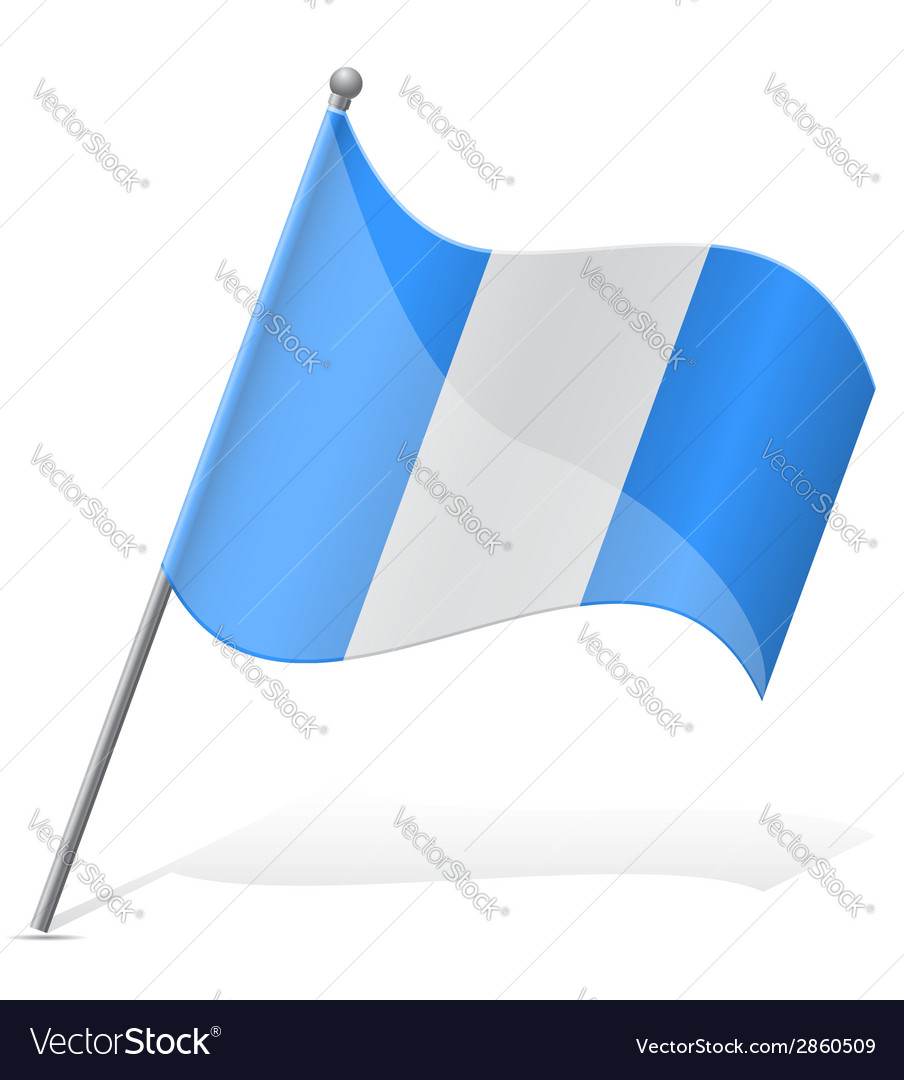 Flag of guatemala vector | Price: 1 Credit (USD $1)