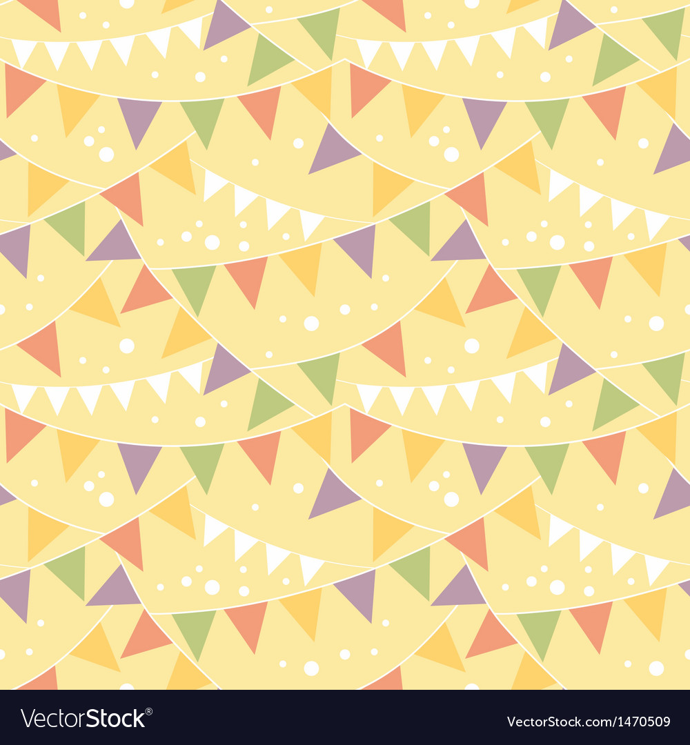 Party decorations bunting seamless pattern vector | Price: 1 Credit (USD $1)