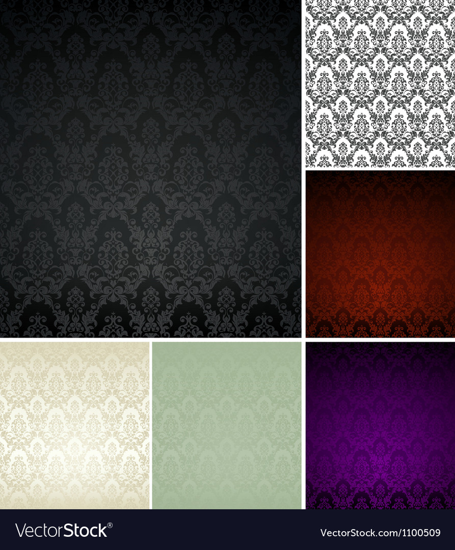 Pattern seamless set vector | Price: 1 Credit (USD $1)