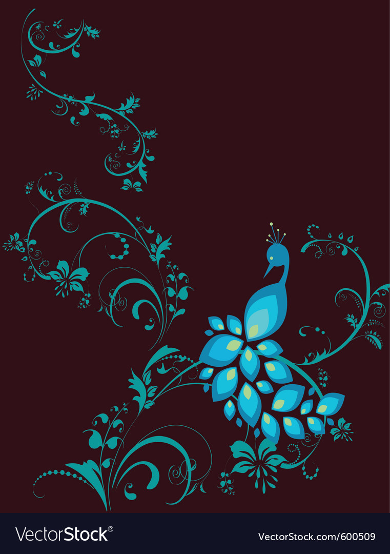 Peacock decorative plant vector | Price: 1 Credit (USD $1)