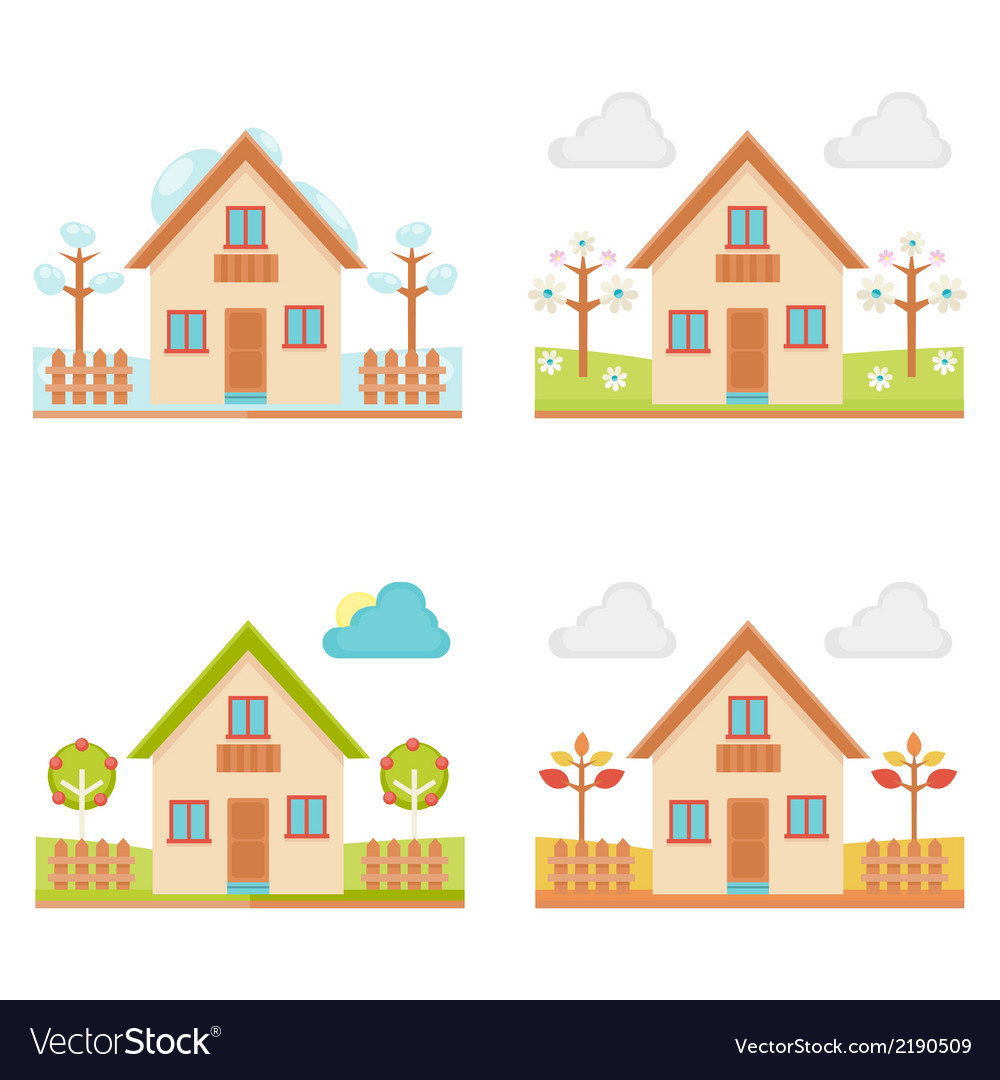 Set of of the seasons vector | Price: 1 Credit (USD $1)