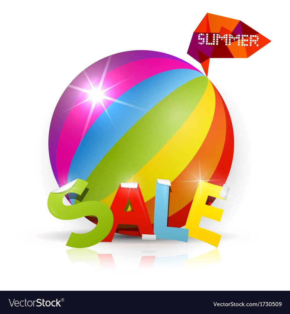 Summer ball vector | Price: 1 Credit (USD $1)