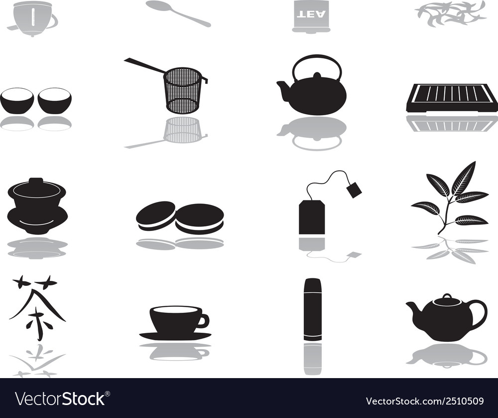 Tea icons eps10 vector | Price: 1 Credit (USD $1)