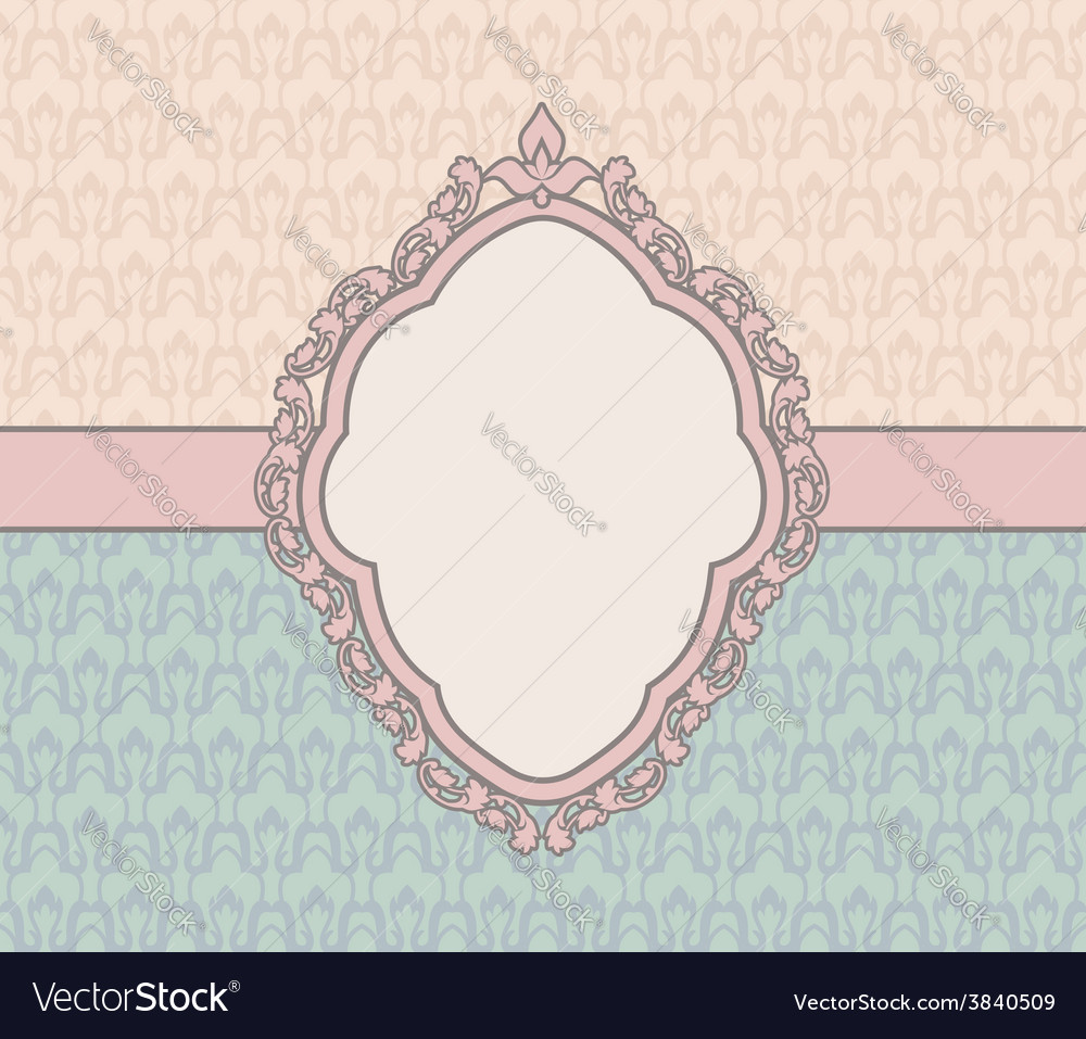 Vintage card design with tag scrap template old vector | Price: 1 Credit (USD $1)