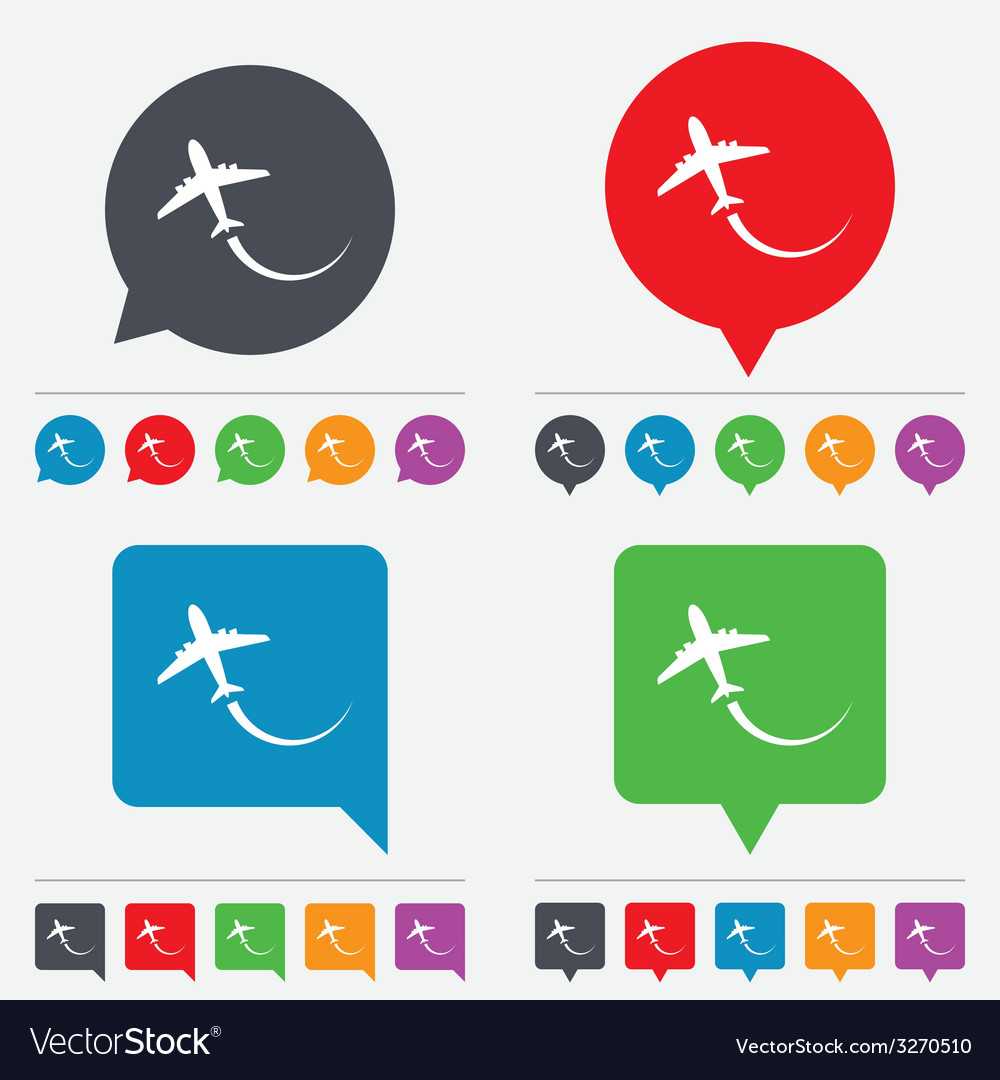 Airplane sign icon travel trip symbol vector | Price: 1 Credit (USD $1)
