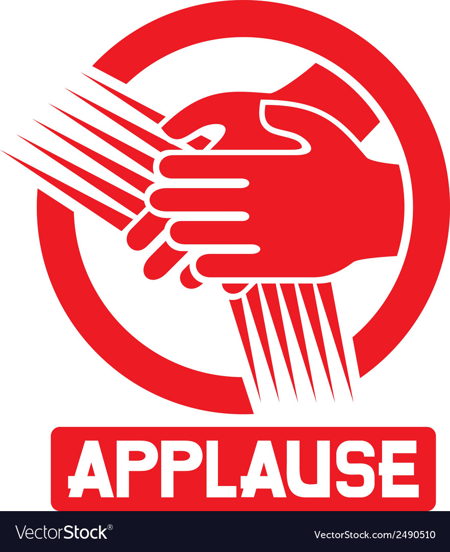 Applause sign vector | Price: 1 Credit (USD $1)