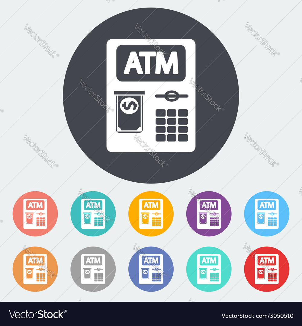 Atm icon vector | Price: 1 Credit (USD $1)