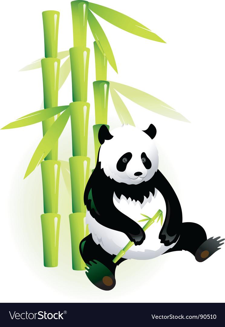 Bamboo panda vector