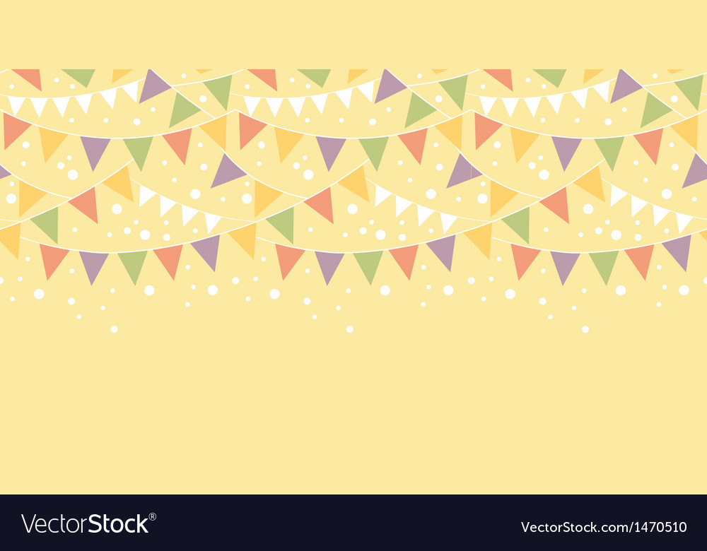 Birthday decorations bunting horizontal seamless vector | Price: 1 Credit (USD $1)