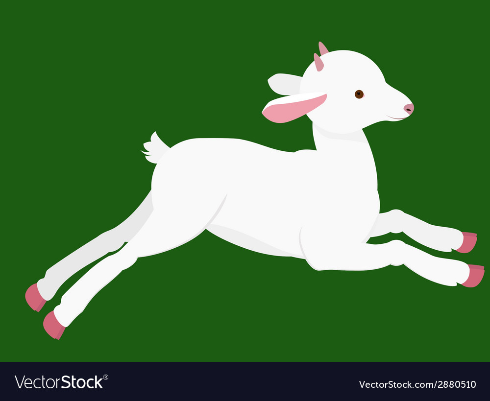 Cartoon goat vector | Price: 1 Credit (USD $1)