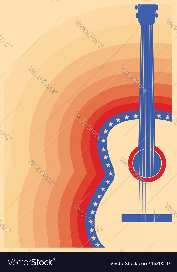 Concert guitar poster music festival vector   Price: 1 Credit (USD $1)