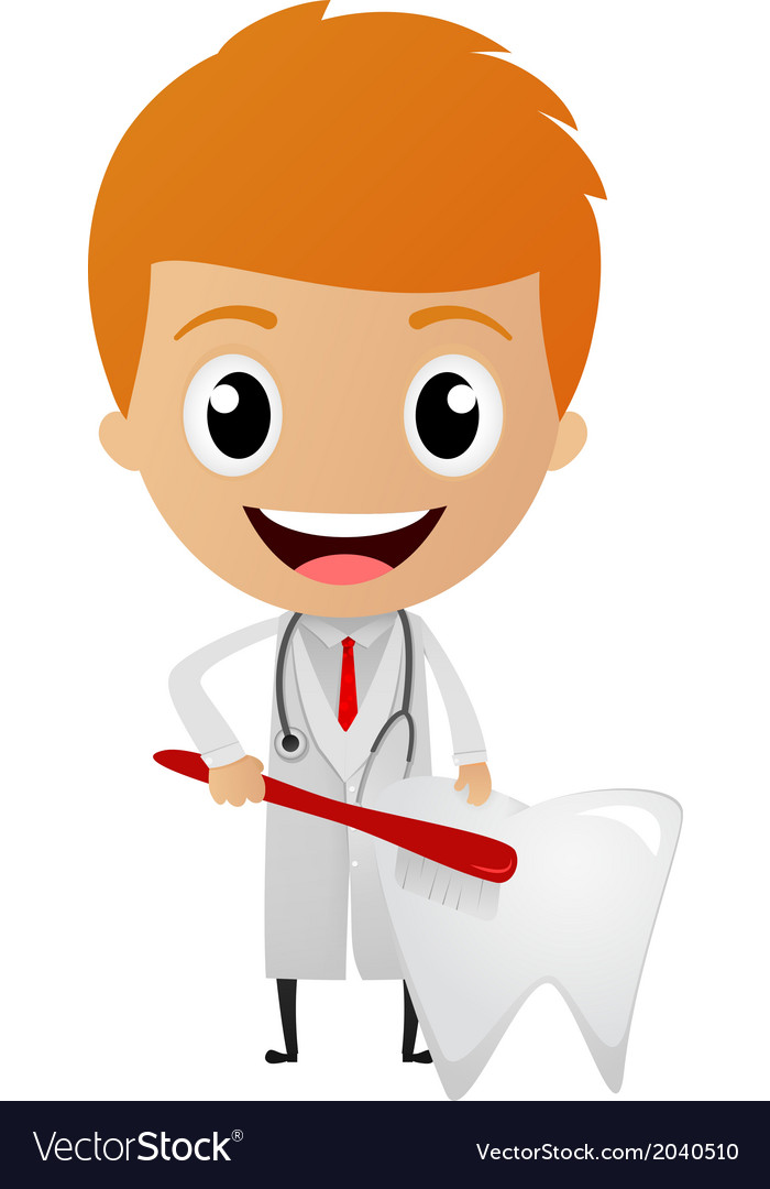 Dentist cartoon vector | Price: 1 Credit (USD $1)