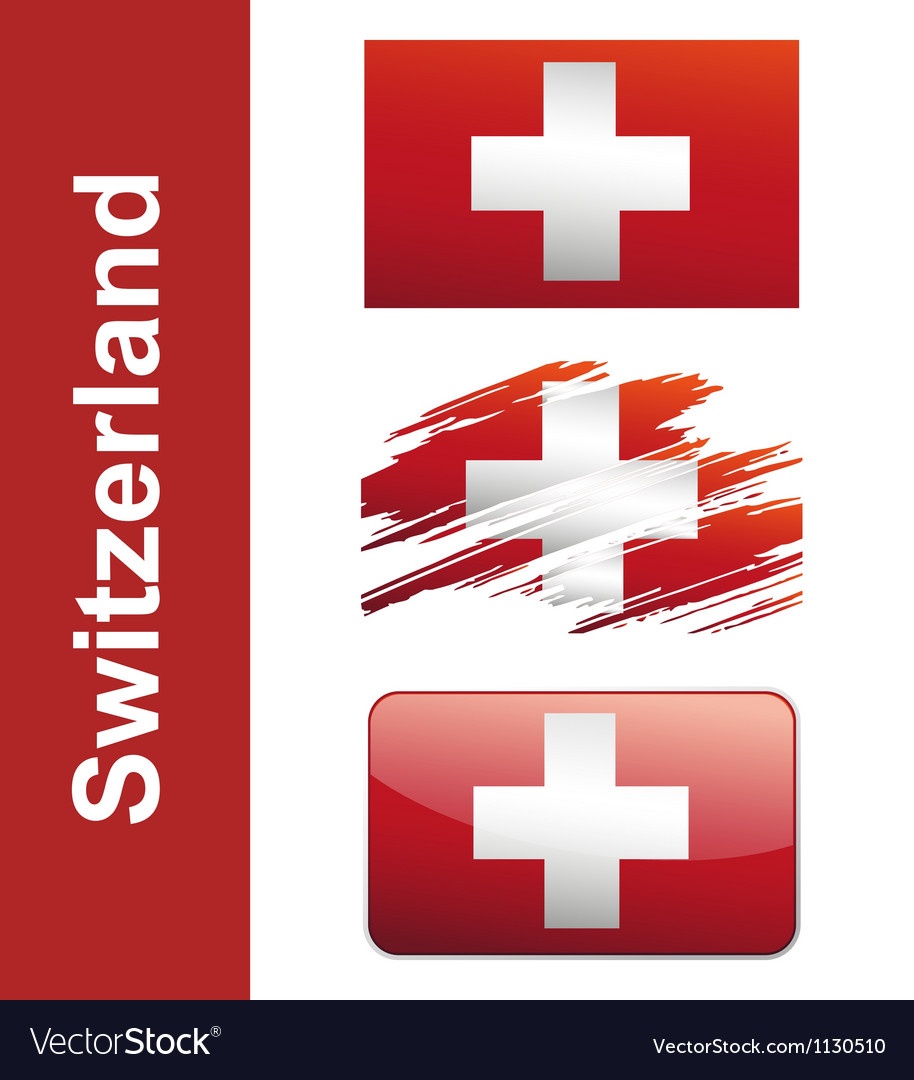 Flag of switzerlandin vector | Price: 1 Credit (USD $1)